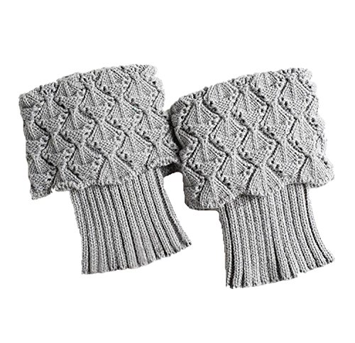 Gray : Webla Women Ladies Winter Crochet Leg Warmers Shell Knit Toppers Boot Cuffs Socks