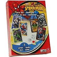MARVEL Spider-Man 3in1 Karten Spielesammlung Quartett Kartenspiel Kinder Reisespiel NEU