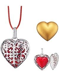 2365c88d2ced Engelsrufer ERO-HEART-03 - Colgante de corazón con cinta de raso (tamaño L