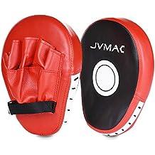 Paos de boxeo MMA JVMAC Kick Boxing Muay Thai MMA-Almohadillas Entrenamiento Kick Manoplas Boxeo color rojo