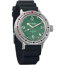 Vostok Amphibian automático Mens Reloj de pulsera Self-winding Militar buceo anfibios caso reloj de