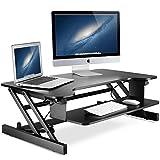 Schreibtisch, Little Tree Höhe Verstellbar Stehend Workstation Konverter mit Breiter Tastatur Tablett Passt Dual Monitor