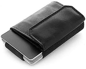 JAIMIE JACOBS 'Nano Boy Pocket' Mini Portafoglio uomo con Portamonete, Porta Carte di Credito dal design minimalista, Mini Wallet, Porta tessere slim tascabile (Nero)