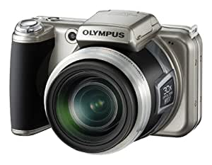 Olympus SP-800UZ Digitalkamera (14 Megapixel, 30-fach Zoom, 7,6 cm (3 Zoll) Display, 2GB intern Speicher) Titanium Silver