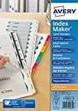 Avery 01814061 A4 IndexMaker Unpunched Dividers with Printable Tabs, 5 Part Dividers