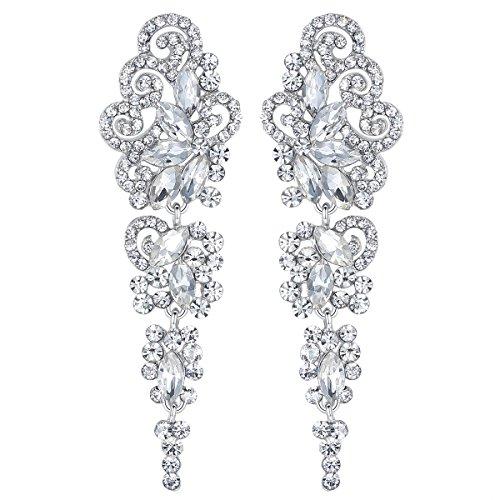 Mecresh Orecchini a goccia in cristallo per donne o regalo di matrimonio, per ragazza o sposa
