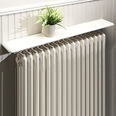 Radiator Shelf 36Inch 91cm Easy Fit Universal Brackets to Fit Any Radiator Satin White Finish produced by greenhurst - quick delivery from UK.
