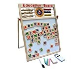 Kids Goods Best Deals - Writing Board Multipurpose Double-Sided Magnetic Wooden Writing Drawing Board