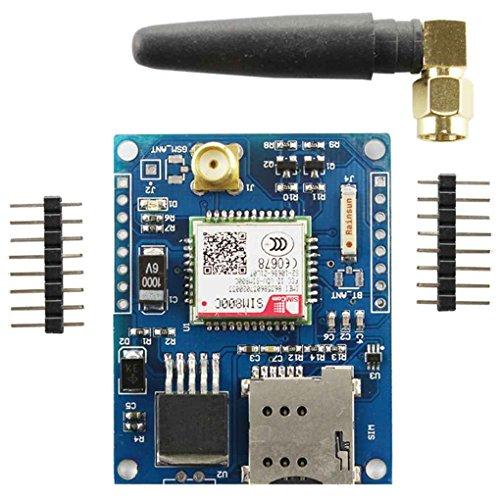 Muani 4 Frequenz Development Board-Modul GSM-GPRS-Modul Bluetooth DTMF Quad-Band-Antenne Nutzplatte