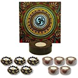 TYYC Home Decorative Candle Holders Diwali Gift Items All-Powerfull Om Tea Light Holder Gift Pack Combo Of 11 T-light Holders