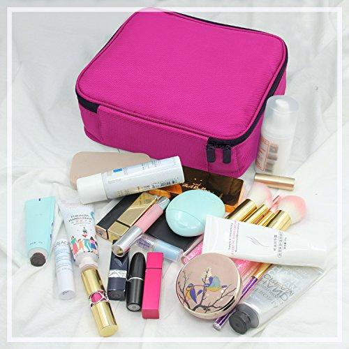 0403d7deb Neceser Maquillaje,Vococal Bolsa de Maquillaje Organizador – Brochas de Maquillaje  Estuches Portátil Maletín de Almacenamiento ...