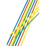 100 Trinkhalme, Maxi, Ballerman-Trinkhalm, Sangria-Trinkhalm,  6,5 mm, 75 cm, farbig sortiert, Papstar 11700