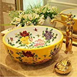 dwthh Chine Artistique Main Europe Vintage Lavabo Lavabo En Céramique Lavabo De La...