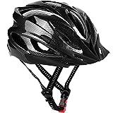 Bike Helmet, Lightweight Adjustable Mountain/Road Cycling Helmet Adult-Black