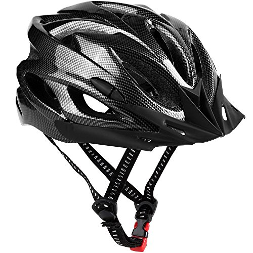 Bike Helmet, Lightweight Adjustable Mountain/Road Cycling Helmet Adult-Black