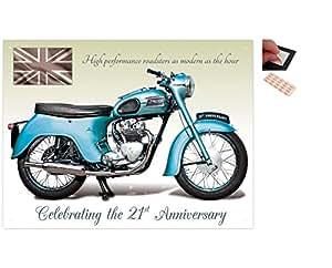 Patins adhésifs repositionnables pour fixation murale facile 30x41cm moto Triumph Twenty One 3TA lot X4