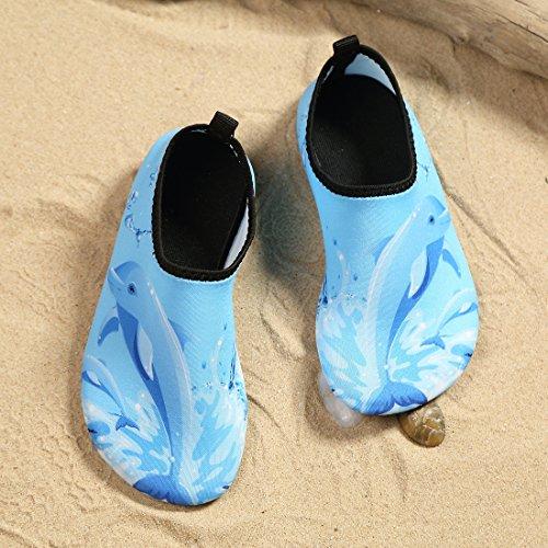 Laiwodun scarpe Toddler scarpe da nuoto per bambini Ragazzi Ragazze Scarpe a piede scalzo Aqua Scarpe da surf per la spiaggia Surf Yoga Unisex color-1