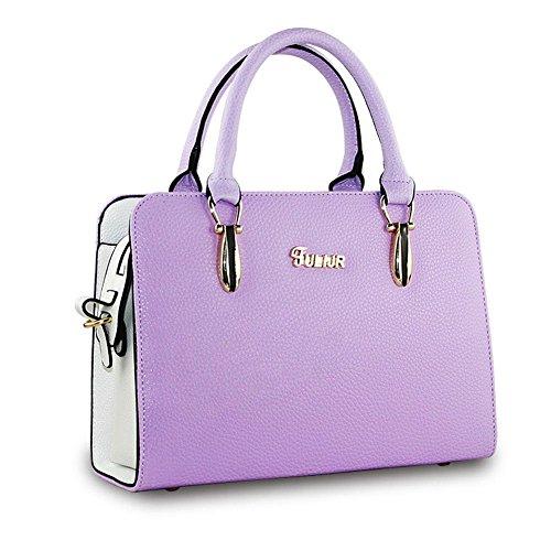 DELEY Donne Fascino Grande Capacità Top Handle Tote Handbag OL Tracolla Valigetta Borsa Borsetta Satchel Bag Viola