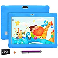 Kids Tablet 10.1 inch Display, Kids Mode Pre-Installed, with WiFi, Bluetooth and Games, 16GB SD Card, Stylus Pen, Quad Core Processor, 1280x800 IPS HD Display (Blue)