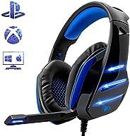 Beexcellent GM-3, Cuffie Gaming Super Confortevole con Microfono e Stereo Bass per Xbox One PS4 PC Smartphone,