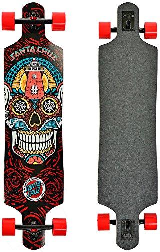 Santa Cruz Skateboard Longboard Sugar Skull Drop Thru, 10.0 x 40.0 Zoll, SANLOBSUSKDT