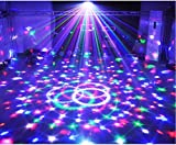 party light Wonsung stage lighting disco dj stage lights crystal magic ball rotating light led RGBW entainment music stage effect lighting with MP3 bluetooth remote controller digital light lamps for KTV, karaoke ,house home gathering Christmas Party light, Weddings, Clubs, Bars decoration lights effect bacground lighting