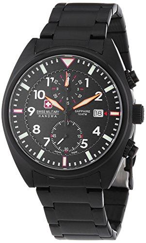 Swiss Military Hanowa Herren-Armbanduhr XL AIRBORNE Chrono Analog Quarz Edelstahl beschichtet 06-5227.13.007