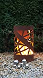 Feuertonne Stripes Edelrost Säule Rost Feuerkorb Feuerschale Vergleich