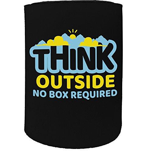 123t Stubby-Halter - stubbie Holder Cooler Think Outside The Box No Box Required - Lustiges Geschenk zum Geburtstag, Witzige Bierdosen-Flasche Koozie Coozie Coozie Geschenk -