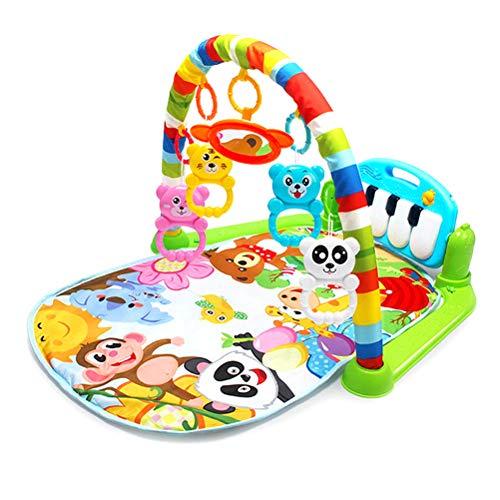 AimdonR Baby Fitness Matte, Baby Fitness Spielzeug, Klavierspielzeug, Eltern Kind Erfahrung, Baby Kognition, Farberkennung, Tiererkennung, Neugeborene 6-36 Monate (Fitness Und Baby)