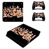 Dotbuy Autocollant de protection fin pour console Sony Playstation 4Slim et manette DualShock 2 Femmes sexy