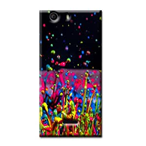 COLOR SPLASH BACK COVER FOR MICROMAX CANVAS NITRO 2