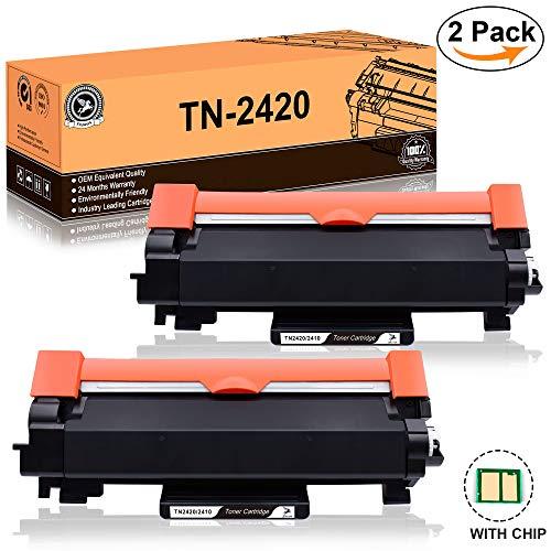 FITU WORK TN2420 TN2410 (con Chip) Cartucho Toner Compatible para Brother HL-L2310D HL-L2350DW HL-L2370DN HL-L2375DW DCP-L2510D DCP-L2530DW DCP-L2550DN MFC-L2710DW MFC-L2730DW MFC-L2750DW (2 x Negro)