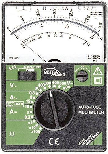 Multímetro Ordenador Portatil Analog Gossen Metra W Metra Max 3Interruptor de seguridad Cat II 600V CAT III 300V