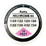 Nichrome 80fils bobine de fil de résistance 9,1m Ni80 (10m) 22–32G AWG