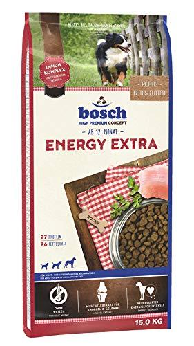 bosch HPC Energy Extra   Hundetrockenfutter für Sport- und Leistungshunde aller Rassen, 1 x 15 kg