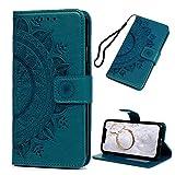 iPhone XR Handyhülle iPhone XR(6,1 Zoll) Hülle Case Leder Tasche Mandalas Muster Flipcase Cover...