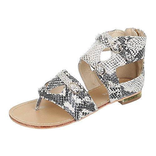 Damen Schuhe, GM2071, SANDALEN Beige Multi