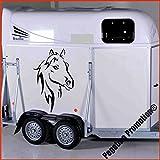 Pferdekopf Modell 4 Aufkleber Anhänger Pferd Anhänger ca. 60cm