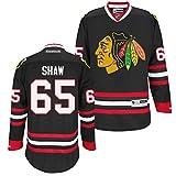 Reebok NHL Eishockey Trikot Jersey Premier Chicago Blackhawks Andrew Shaw #65 Black (XL)