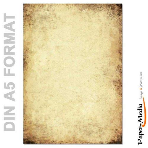 Papier à motif à lettres VIEUX PAPIER DIN A5 format 100 feuille de papier