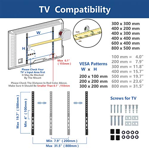 51FQ0%2BLirxL - RFIVER Soporte TV Universal de Mesa para Television LCD LED OLED QLED de 27 a 65 Pulgadas UT3001X