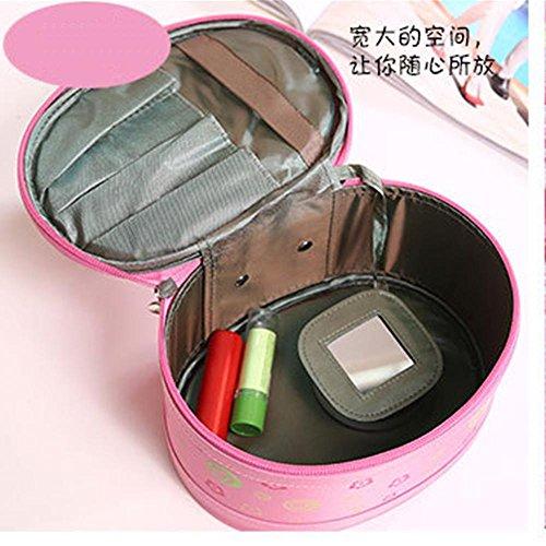 GBT Große Kapazität Waschbeutel kosmetischer Kasten Pink
