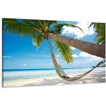 120 x 80 cm cuadro en lienzo playa 5039-SCT – imagen / impresion / pintura listo para colgar
