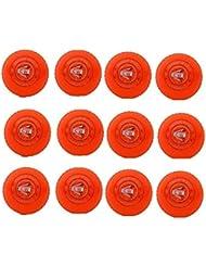 CW Wind - Palline da Allenamento Generico, Confezione da 12, Colore: Arancione, per Giochi di Cricket all'aperto e Interni