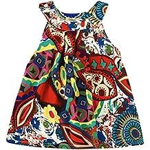 38f99fb3e6227 Amlaiworld Falda niña Bebé Chicas Vestido de princesa bohemia de flores Ropa  de playa