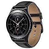 Sundaree Compatible avec Galaxy Watch Active2/42MM/Gear Sport Bracelet,20MM Bracelet Remplacement Montre Bande Poignet Cuir Véritable Pour Samsung Galaxy Watch 42MM/Active/Gear Sport(leather-black)