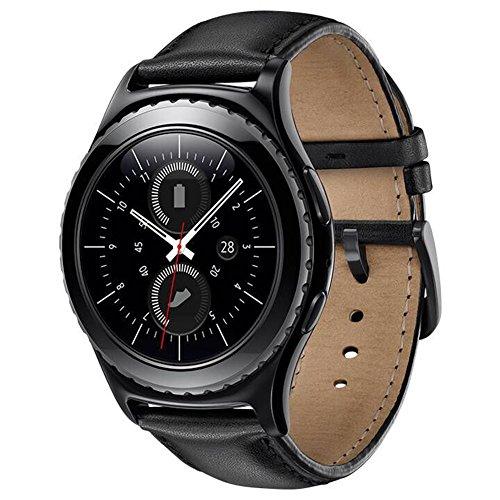 Samsung Gear S2 Classic Bracelet,Sundaree Bracelet de Remplacement Montre Intelligente Bande de Poignet en Cuir Véritable Pour Samsung Gear S2 Classic (leather-black)