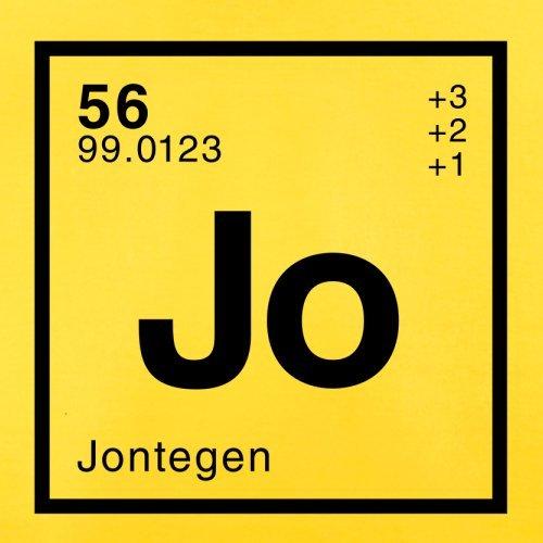 Jonte Periodensystem - Herren T-Shirt - 13 Farben Gelb