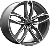 ATOM AD 1 CERCHIO IN LEGA 8J 18 5X112 ET45 66,5 PER AUDI A3 A4 A6 TT VOLKSWAGEN GOLF 5 6 7 TOURAN MADE IN ITALY